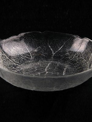 "Glass Dish 6 "" Shallow Round Aspen"