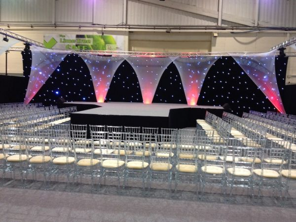 ice chairs ready for the fashion show