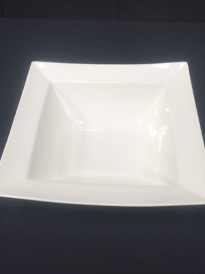 "LUMINA SQUARE 10"" BOWL (WIDE RIMMED)"
